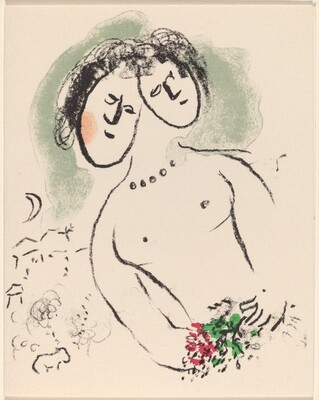 Greeting Card (Female Figure with Two Heads)