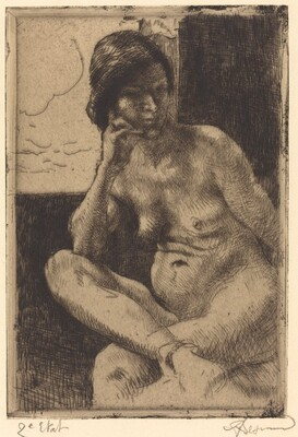 Seated Nude with Her Arm Resting on Her Leg (Femme nue assise, le bras appuyé sur la jambe)