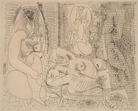Variation on Delacroix's Women of Algiers: V