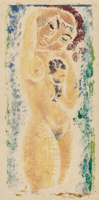 Nude Woman with Arm Upraised