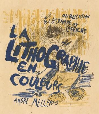 Cover for André Mellerio's La Lithographie en couleurs