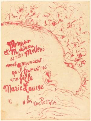 Birth Announcement for Marie-Louise Mellerio