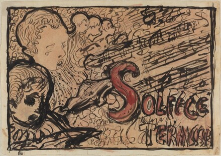 Study for cover of Petit solfège illustré