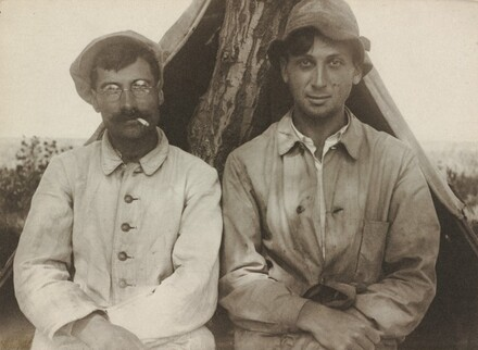 Self-Portrait with Ede Papszt