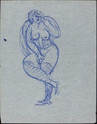 Nude Woman with Corset