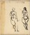 Two Studies of Standing Female Nude [recto]
