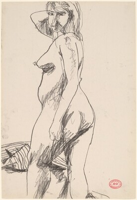 Untitled [standing female nude turning toward viewer]