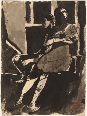 Untitled [Two Seated Figures]