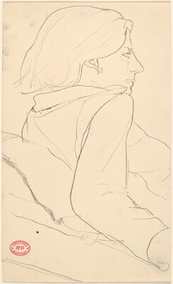 Untitled [study of a woman with an earring facing right]
