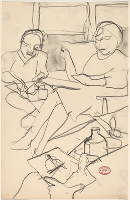 Untitled [seated figures]