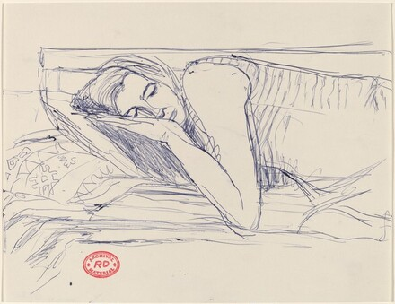 Untitled [woman sleeping with head on pillow]