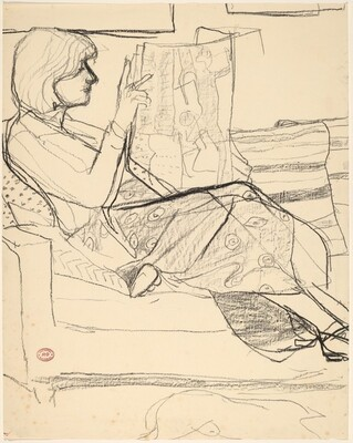 Untitled [woman reading a newspaper]