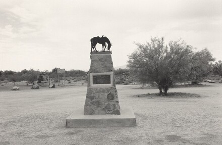 In Memory of Tom Mix. Near Florence, Arizona