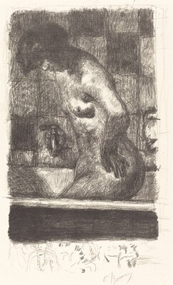Woman Standing in Her Bath (Femme debout dans sa baignoire)