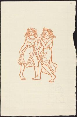 First Book: Two Nymphs Dancing (Les nymphs  de la grotte)
