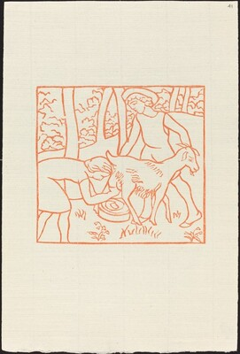 Fourth Book: Chloe Helps Daphnis with His Goats (Chloe trait une chevre de Daphnis)
