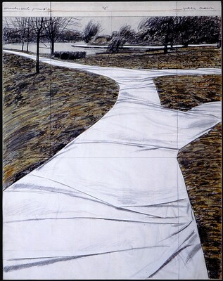 Wrapped Walk Ways, Project for Jacob L. Loose Memorial Park, Kansas City, Missouri [right panel]