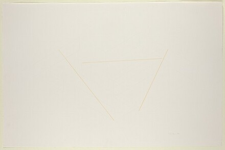 Untitled (study for 3-part diagonal construction for the Kestner Gesellschaft, Hanover, not executed)