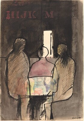 Three Figures in a Room