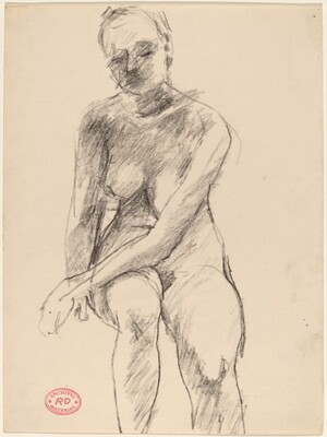 Untitled [seated nude with her left arm resting on her thigh]