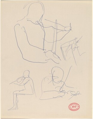Untitled [three studies of a violinist playing]