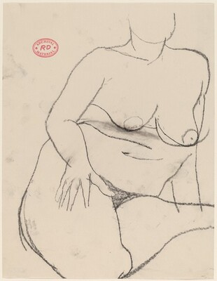 Untitled [seated nude resting her hand on her right thigh]