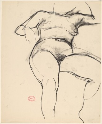 Untitled [front view of a reclining female nude]