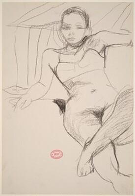 Untitled [model lying back in her bra]