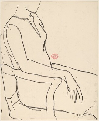 Untitled [woman seated in an armchair]
