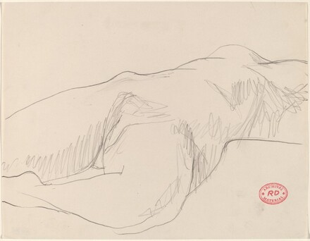Untitled [torso of reclining female nude]