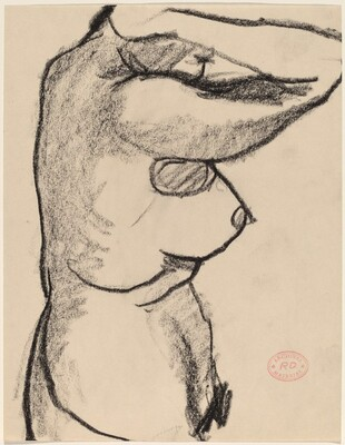 Untitled [side view of nude raising her arms]