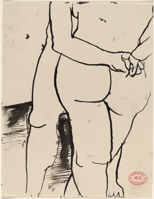 Untitled [legs and buttocks of standing nude figures]