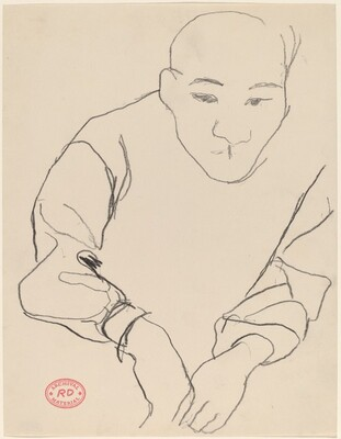Untitled [Asian man leaning forward]
