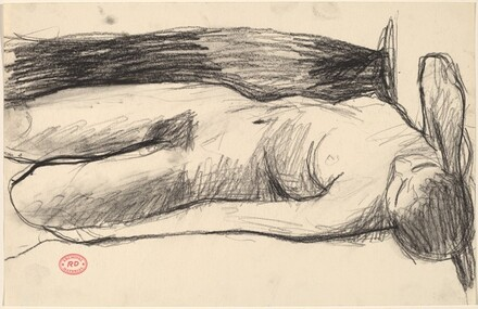 Untitled [reclining nude with her right hand behind her head]