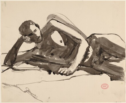 Untitled [male nude turned left]
