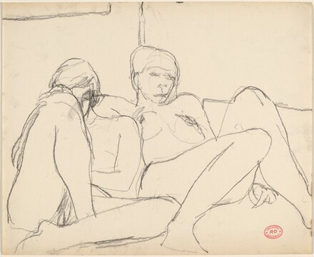 Untitled [two reclining female models]