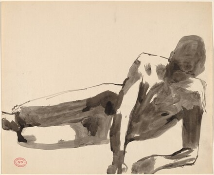 Untitled [reclining male nude]