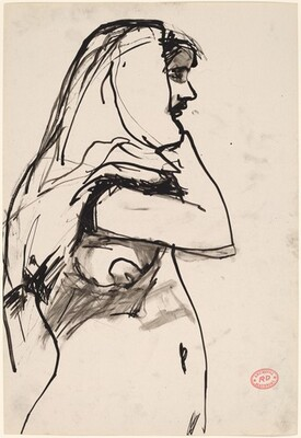 Untitled [woman in [profile with cloth over head]