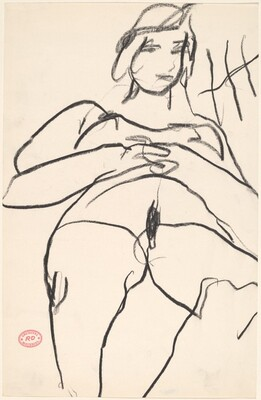 Untitled [woman with hands clasped]