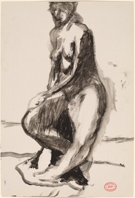Untitled [seated woman]