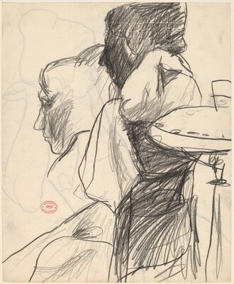 Untitled [two studies of a model] [recto]