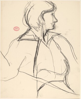 Untitled [woman with face in profile]