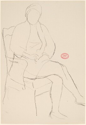 Untitled [seated woman with hands in lap]