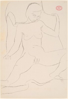 Untitled [female nude with legs apart]