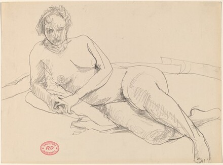 Untitled [female nude resting on her right side]