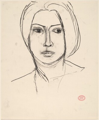Untitled [head of a woman]