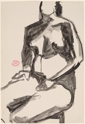 Untitled [seated female nude with hands in her lap]