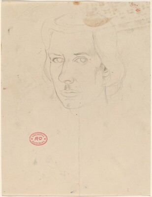 Untitled [head of a woman with short hair]