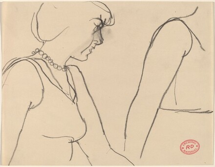 Untitled [two women, one wearing pearls]