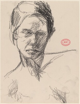 Untitled [head of a woman with shoulders sloping]